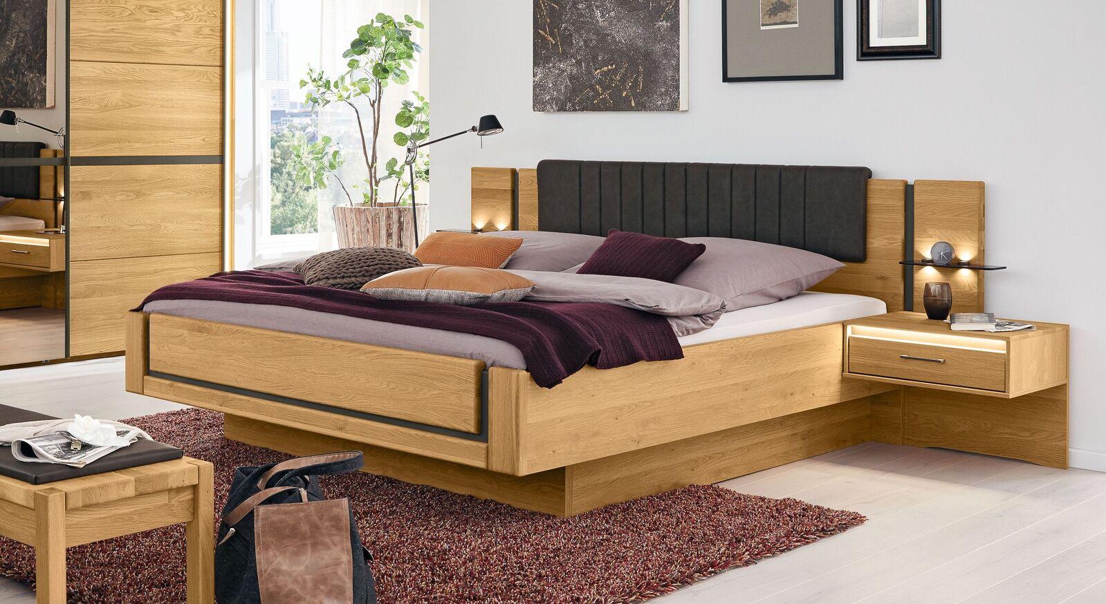 MUSTERRING Bett Sorrent in Schwebeoptik in Doppelbettgröße
