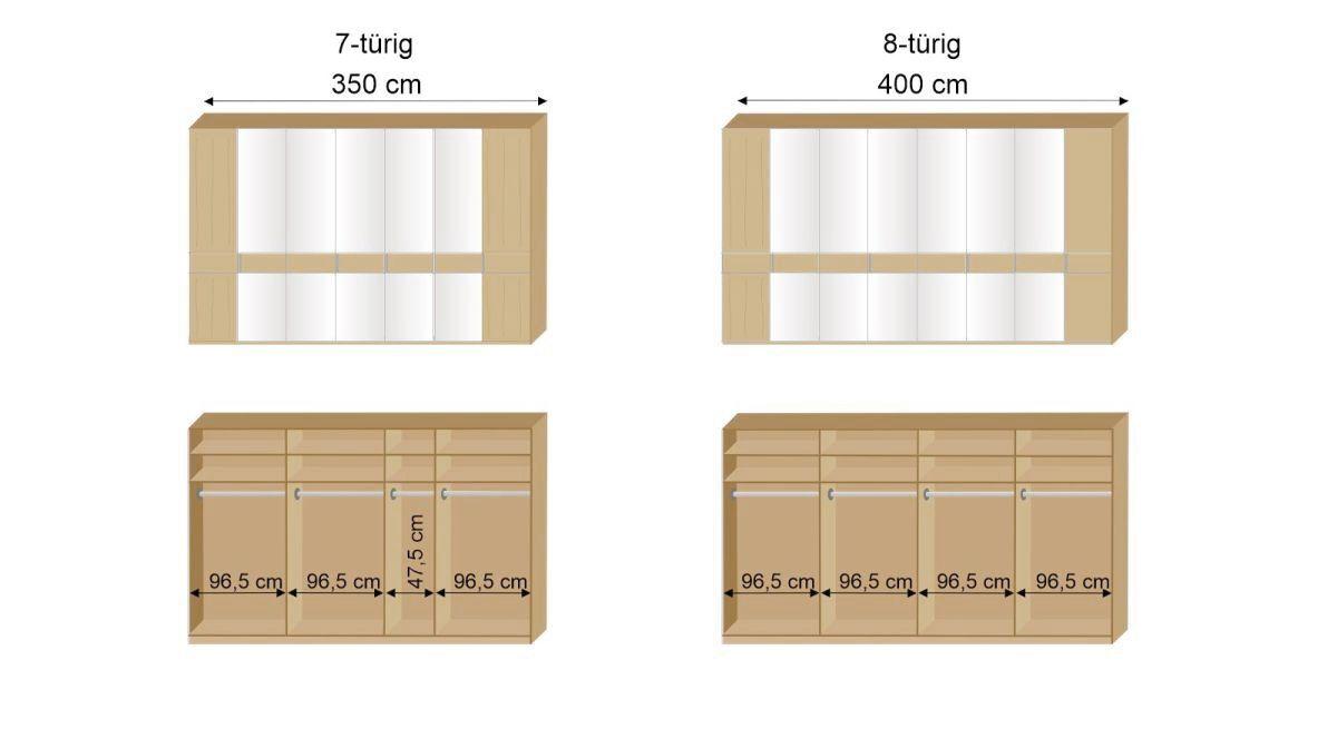 Maßgrafik MUSTERRING Drehtüren-Kleiderschrank Savona 2.0
