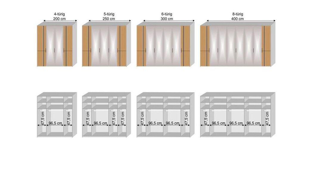 MUSTERRING Falttüren-Kleiderschrank Sorrent mit hochwertiger Inneneinteilung
