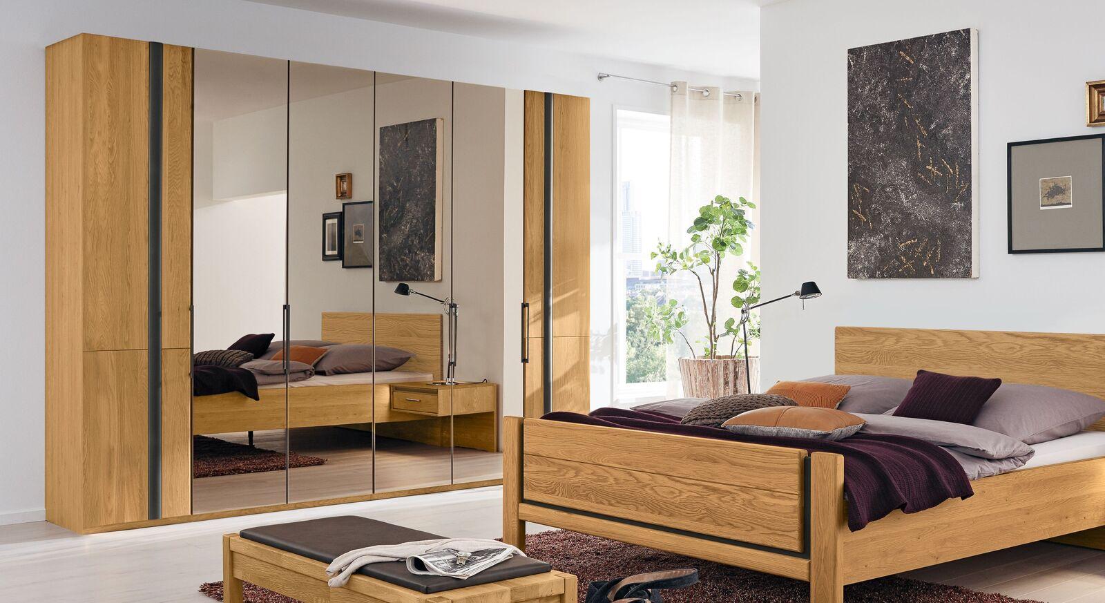 Moderner MUSTERRING Falttüren-Kleiderschrank Sorrent mit Spiegel