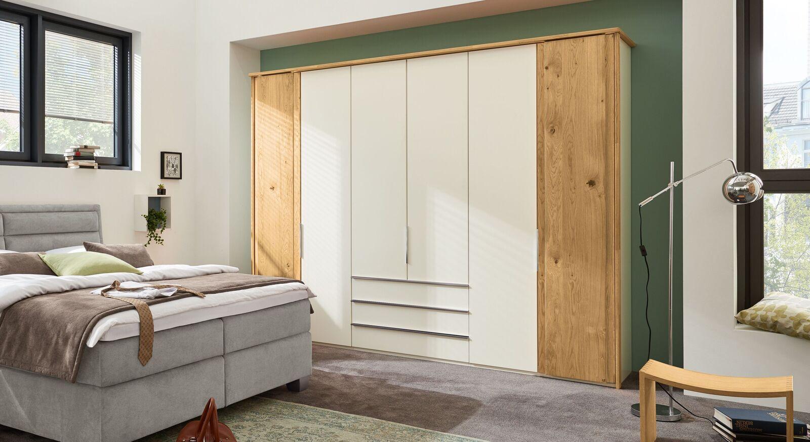 Moderner MUSTERRING Funktions-Kleiderschrank Saphira in zweifarbigem Design