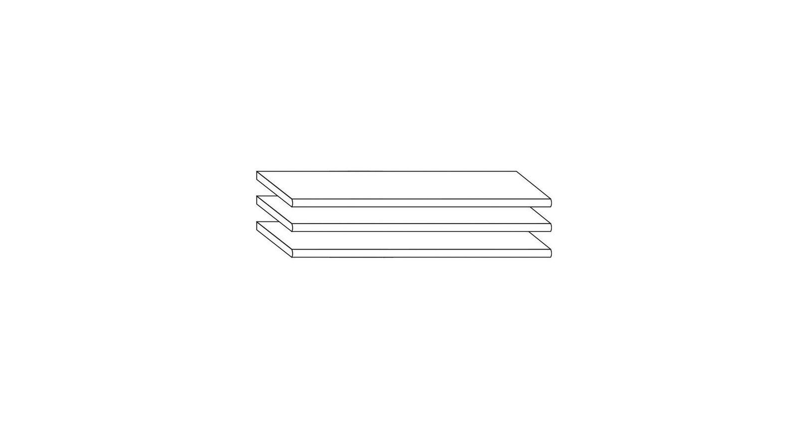 MUSTERRING 72cm breiter 3er-Set Einlegeböden als Innenausstattung für Kleiderschrank