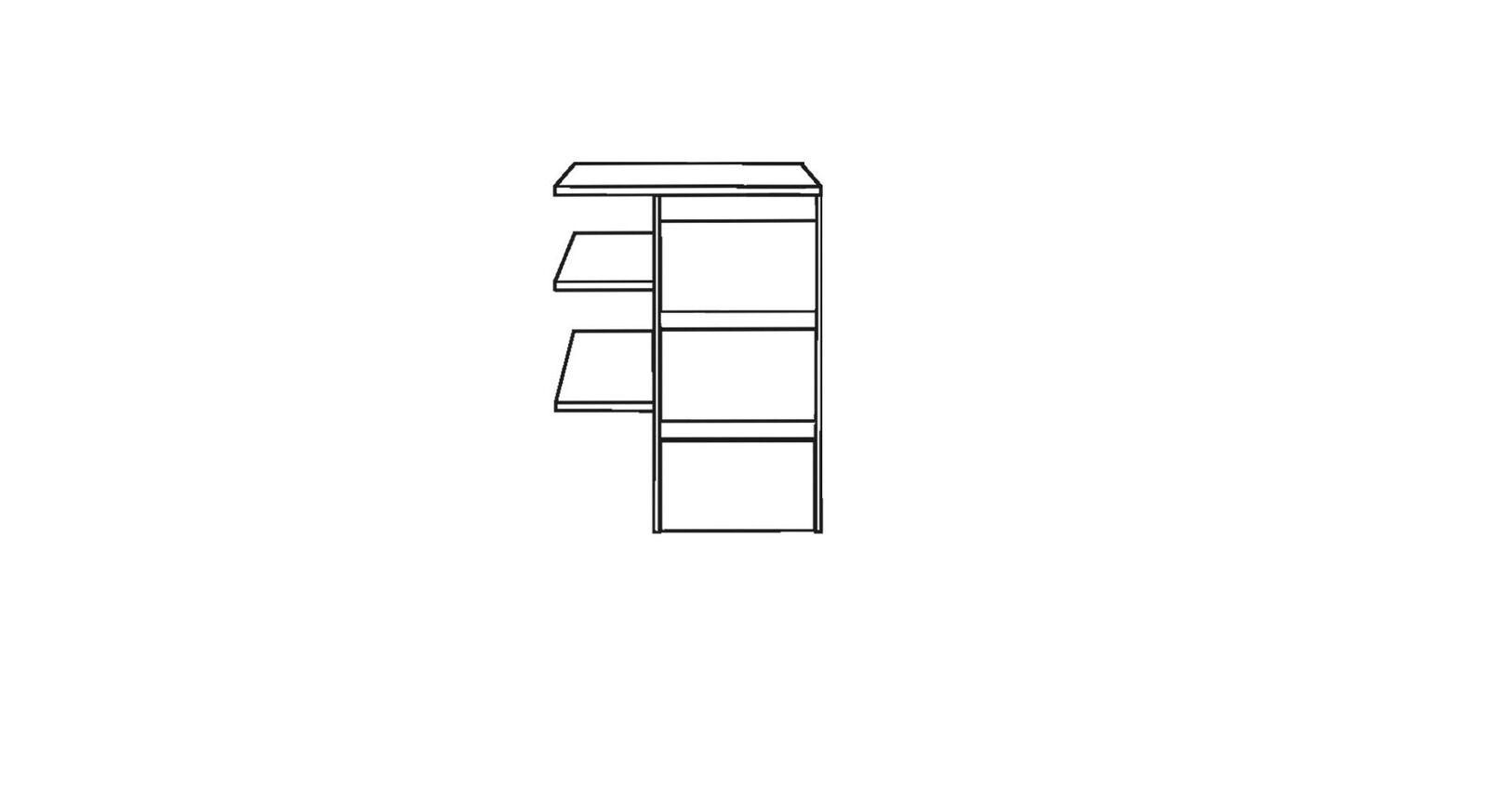 MUSTERRING Innenausstattung Kleiderschrank schmaler Fächereinsatz mit 3 Schubladen