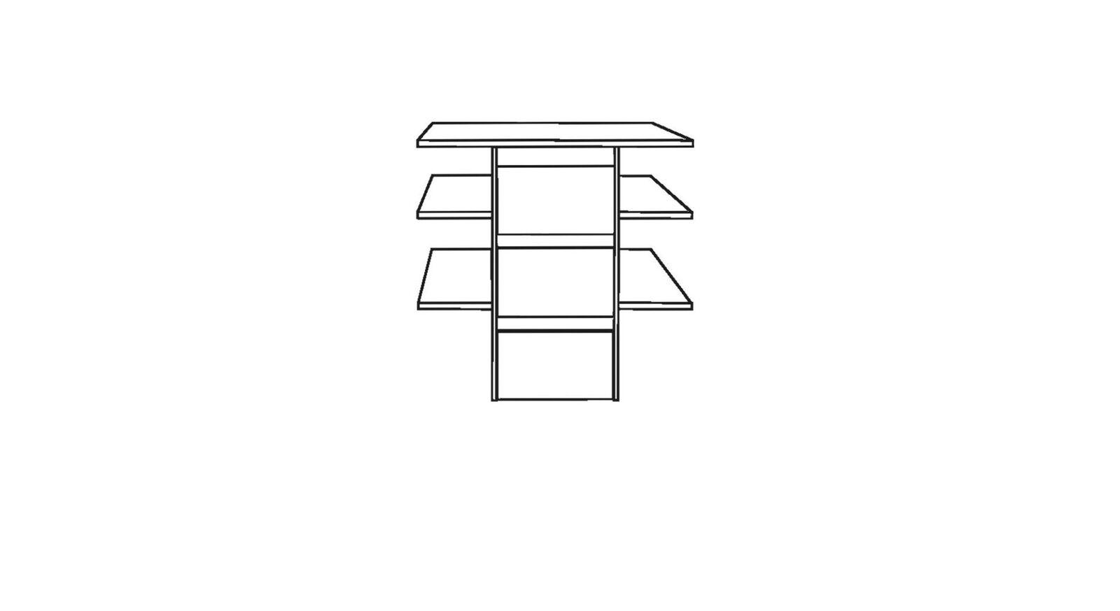 MUSTERRING Innenausstattung Kleiderschrank Fächereinsatz mit 3 Schubladen