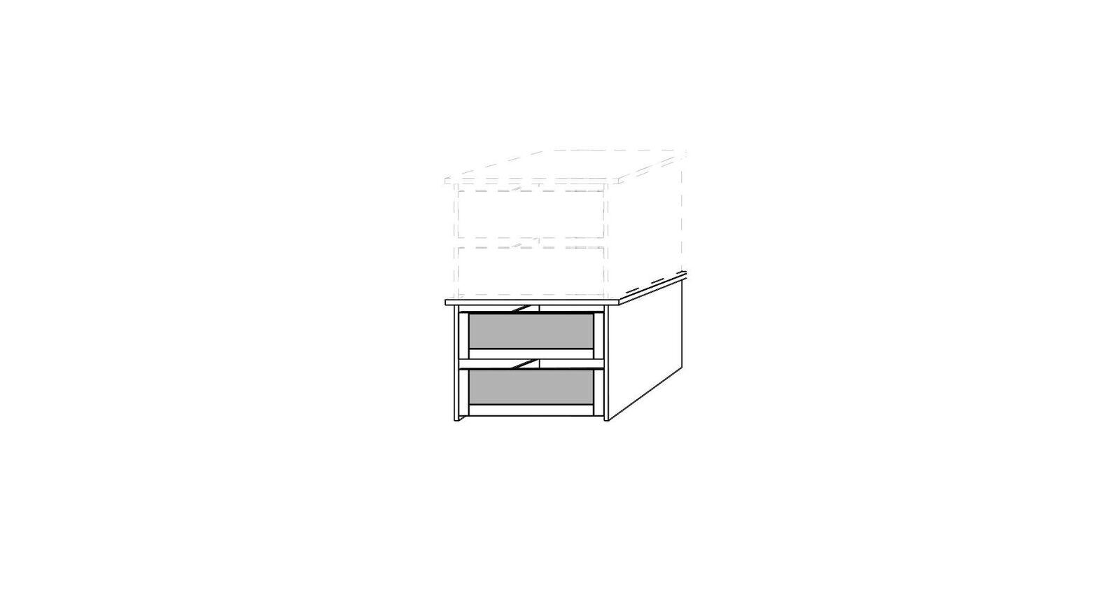 MUSTERRING Innenausstattung Kleiderschrank schmaler Schubladen-Einsatz mit Glasfront