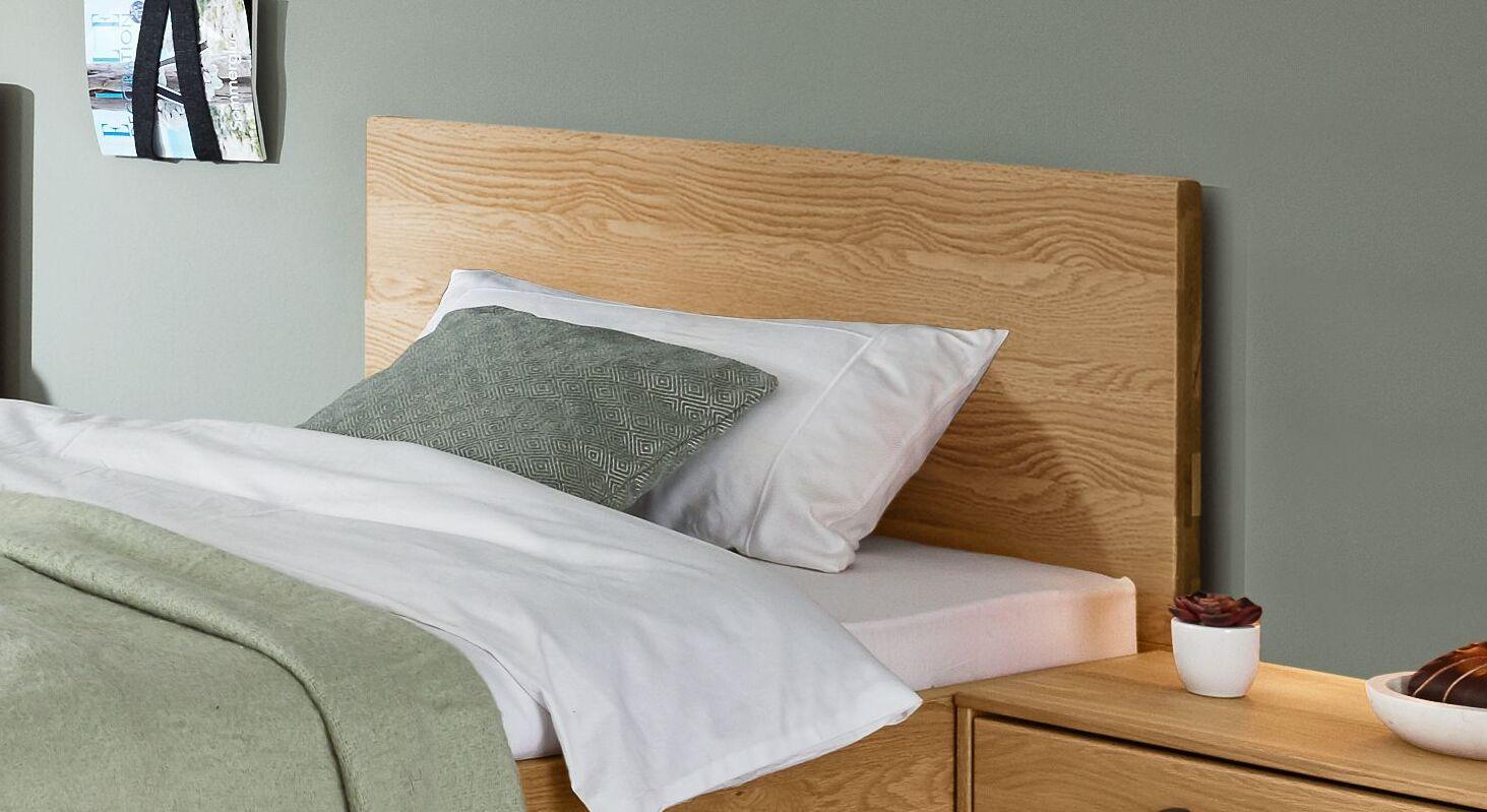 MUSTERRING Komfort-Einzelbett Sorrent mit geradlinigem Kopfteil