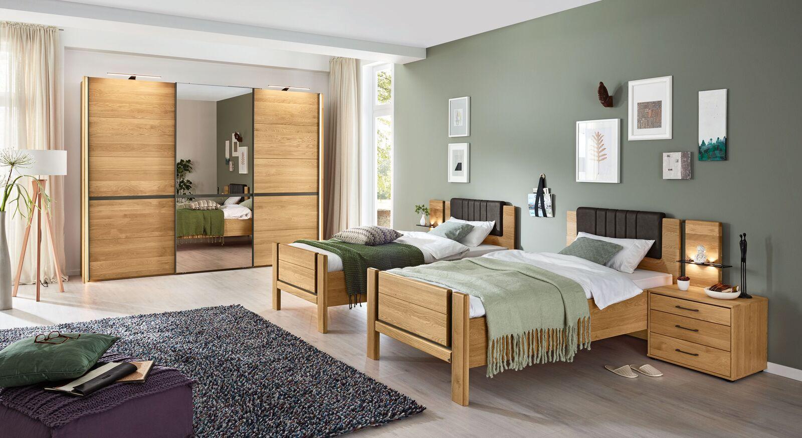 MUSTERRING Komfort-Einzelbett Sorrent mit passenden Beimöbeln