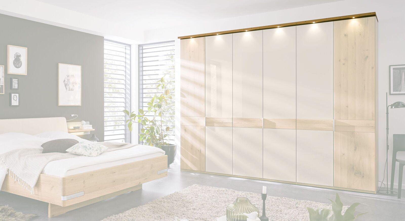 MUSTERRING Kranzleiste für Drehtüren-Kleiderschrank Savona 2.0 mit Beleuchtung