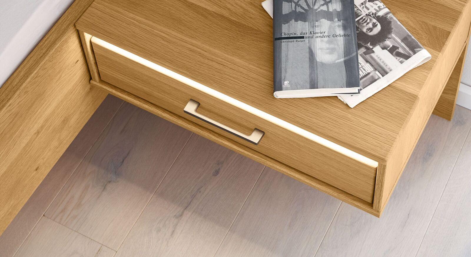 MUSTERRING LED-Beleuchtung für Schwebenachttisch Sorrent als schmaler Lichtstreifen