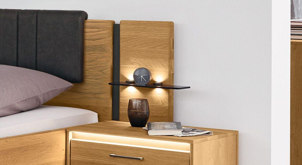 MUSTERRING Nachttisch Aufsatzpaneel mit schiefergrauem Element