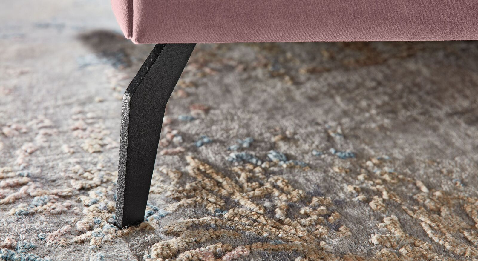 MUSTERRING Polsterbett Elos mit Fuß im Retro-Style