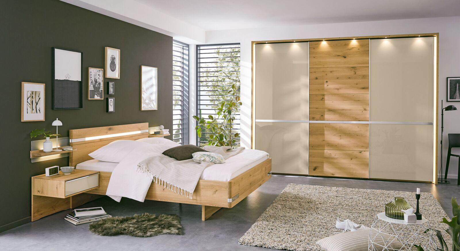 MUSTERRING Schlafzimmer Savona 2.0 Variante B mit champagnerfarbenen Elementen