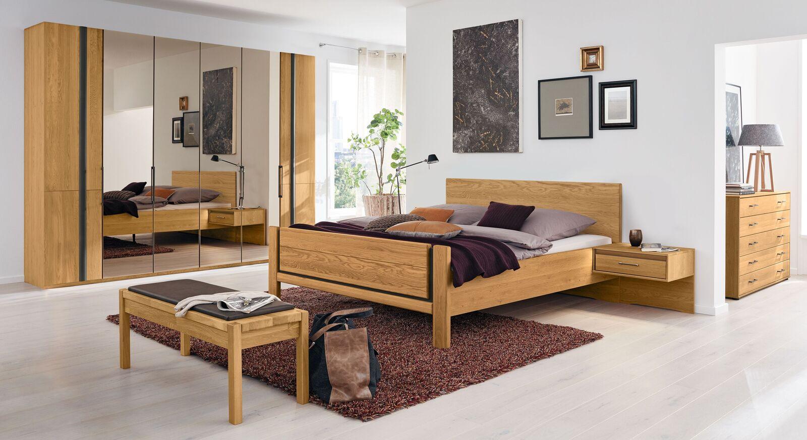 MUSTERRING Schlafzimmer Sorrent 4-tlg. mit Falttüren-Kleiderschrank