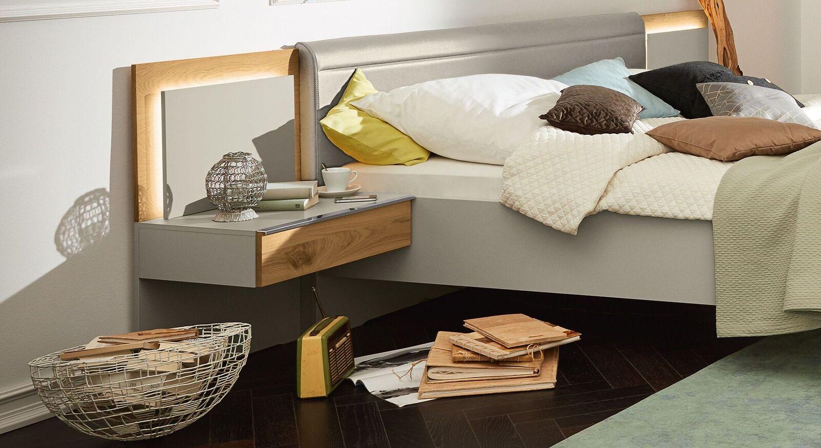 MUSTERRING Schwebenachttisch Saphira kieselgrau in modernem Design