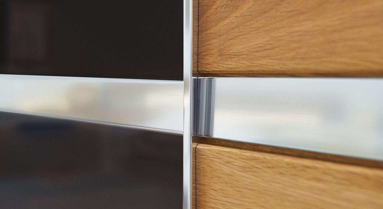 MUSTERRING Schwebetüren-Kleiderschrank Savona Graphit in angesagtem Materialmix