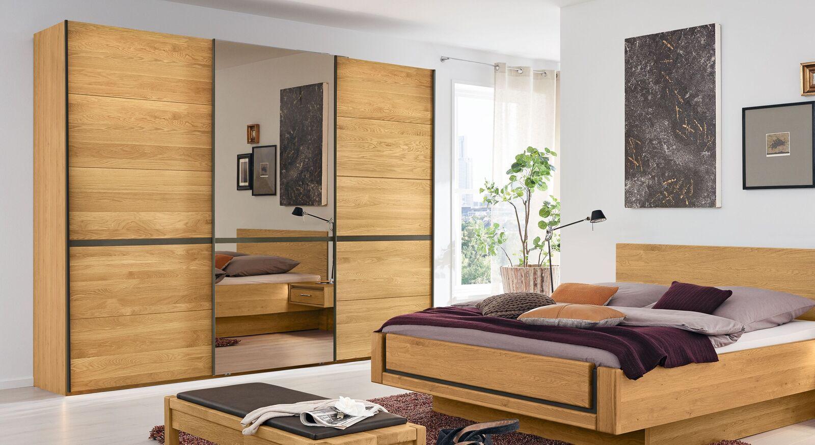 MUSTERRING Schwebetüren-Kleiderschrank Sorrent mit mittiger Spiegeltüre