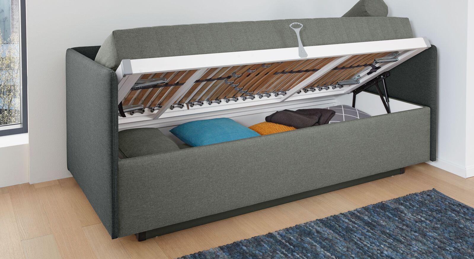 MUSTERRING Sofaliege Elapso mit Sockel und Bettkasten