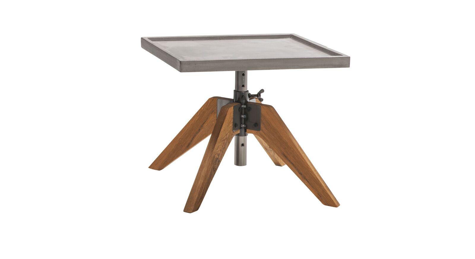 Höhenverstellbarer Nachttisch Antero mit Betonplatte