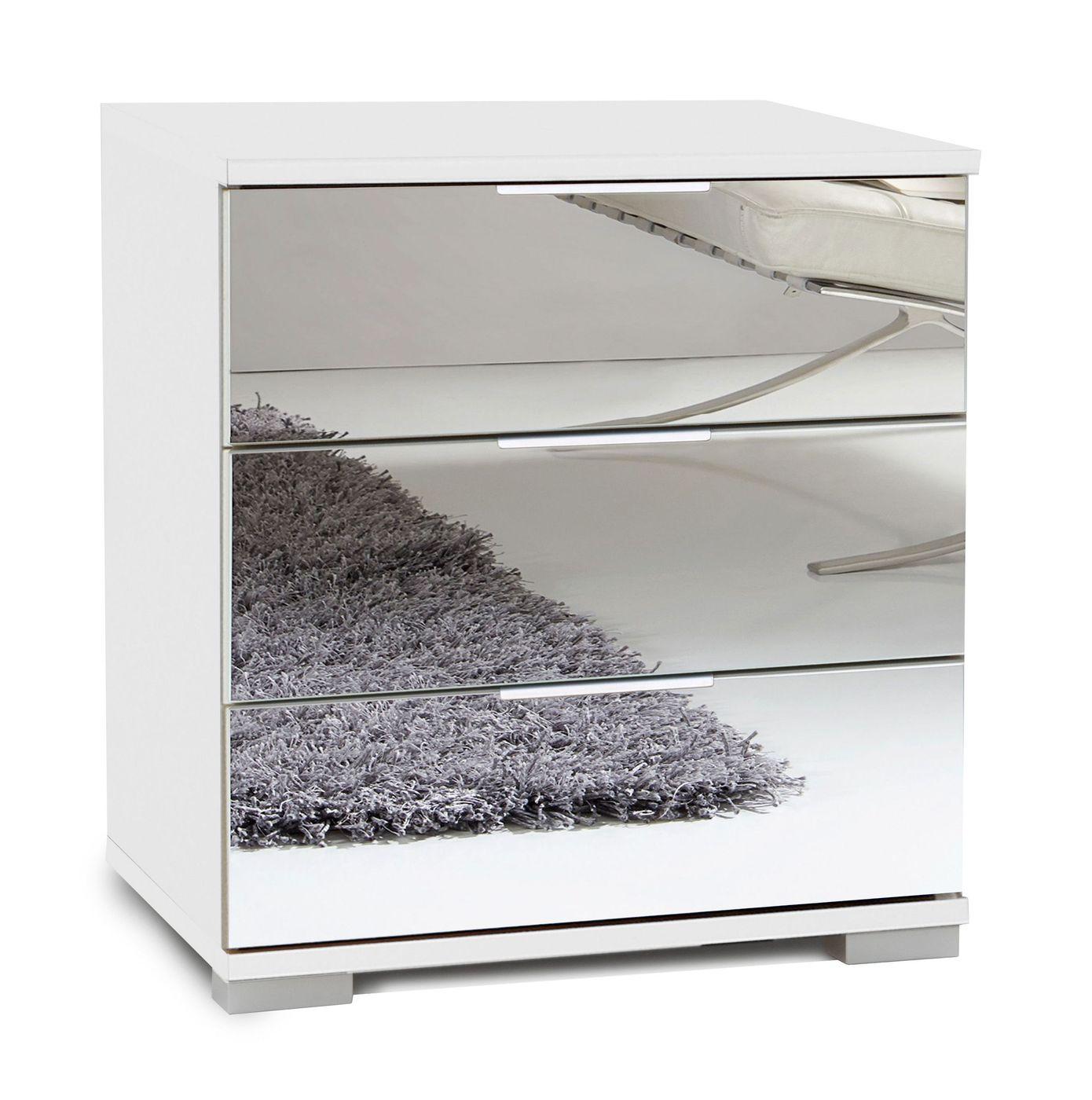 nachttisch spiegel cool nachttisch fur weis antik touch. Black Bedroom Furniture Sets. Home Design Ideas