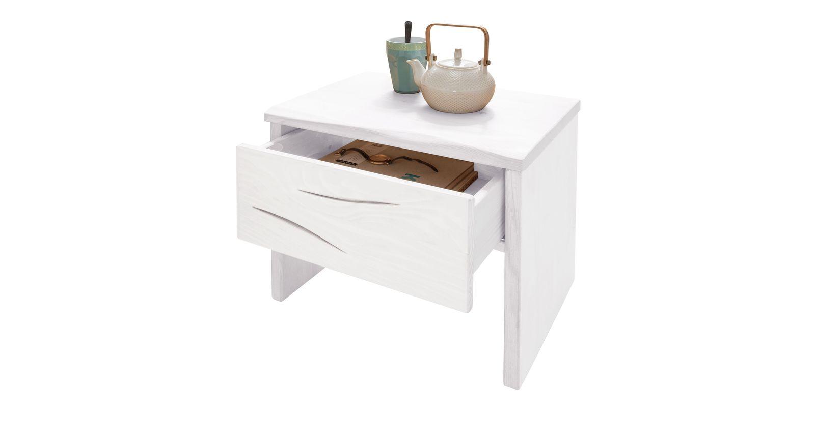 Nachttisch Arnara aus weißem Fichtenholz
