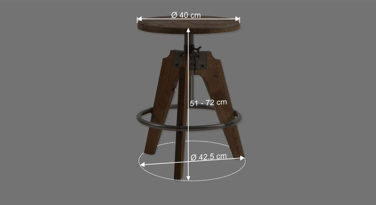 Nachttisch Aronias Bemaßungsgrafik