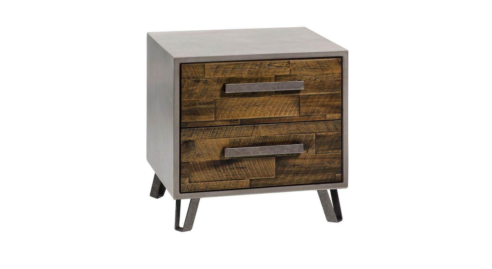 Nachttisch Banvano aus braunem Akazienholz