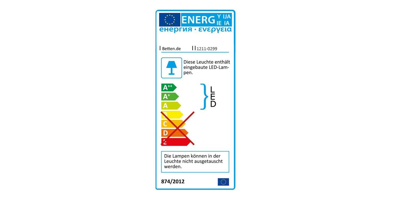 Energieverbrauchskennzeichnung vom Nachttisch Bloomfield