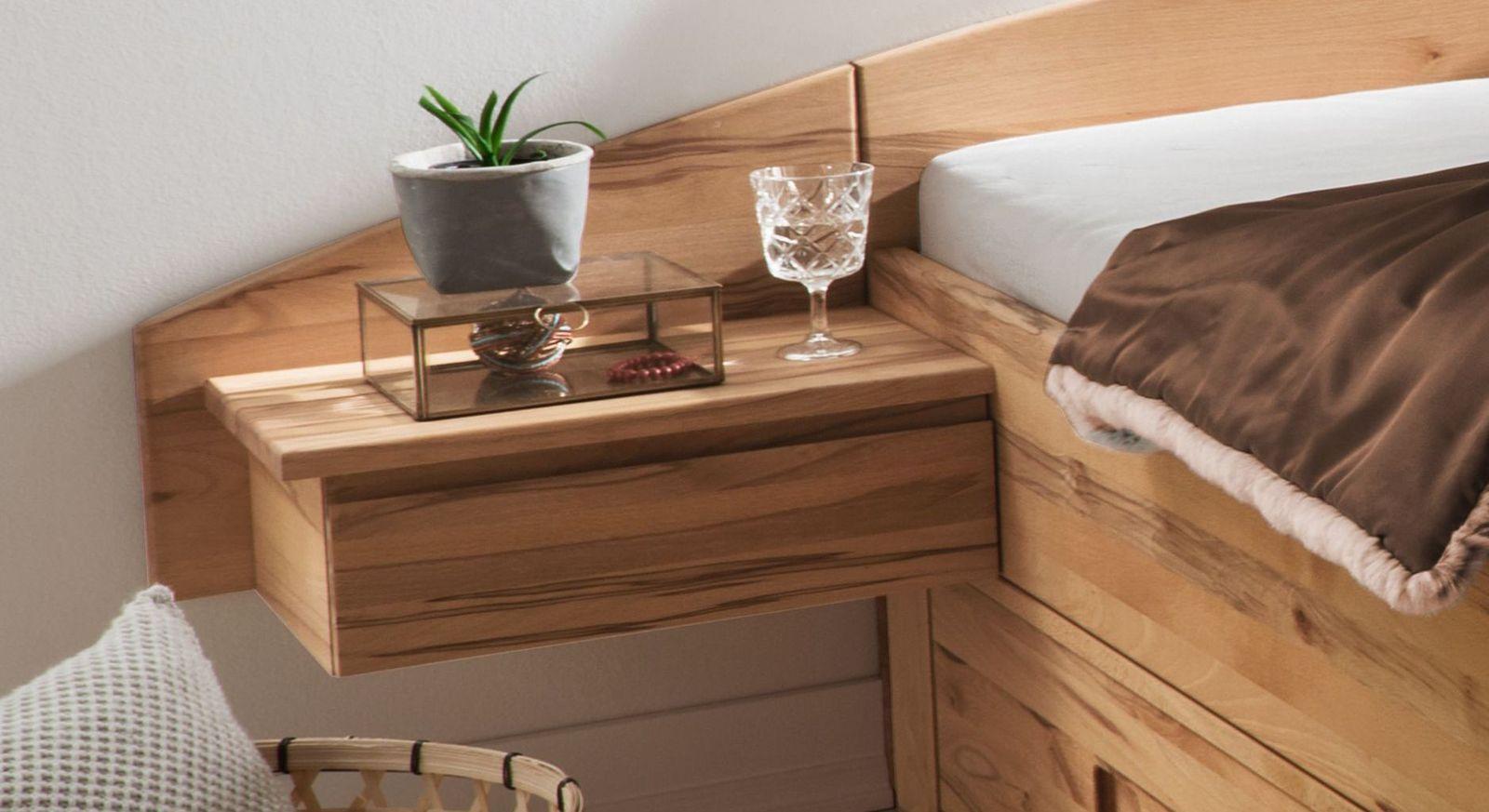 Nachttisch Burgau mit Stauraum durch Schublade