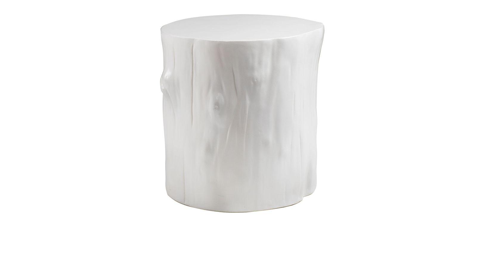 Stylischer Nachttisch Calvia aus Beton in Weiß