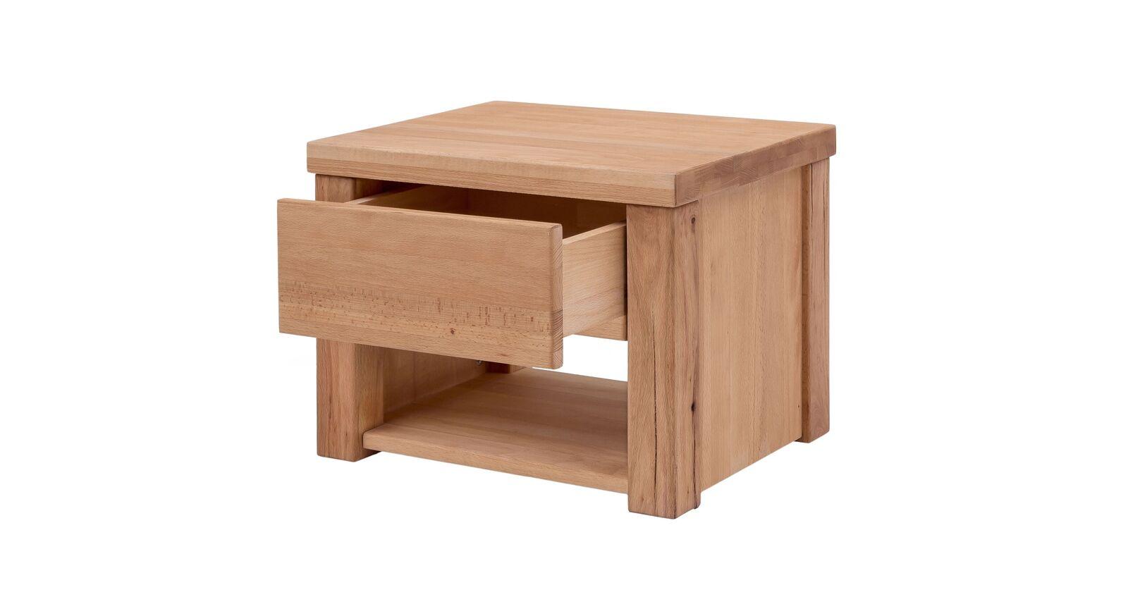 Nachttisch Cunera mit leichtgängiger Schublade