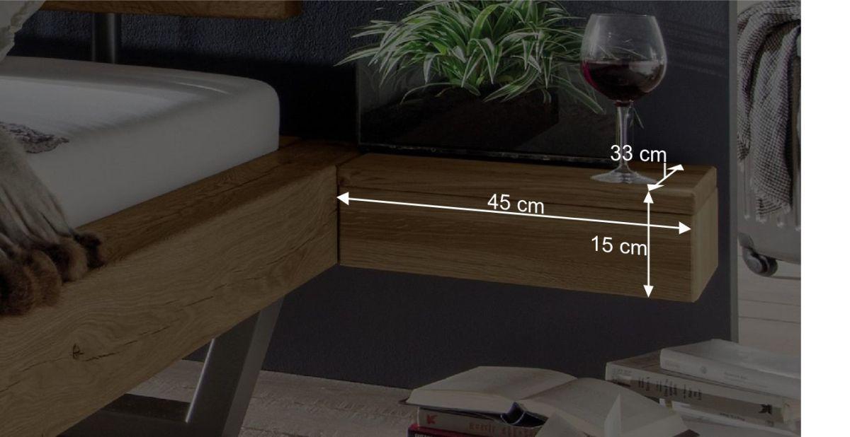 Nachttisch Daricas Bemaßungsgrafik