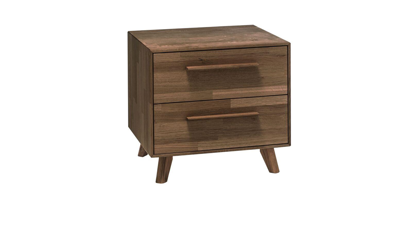 Nachttisch Dorota mit 2 Schubladen und Holzgriffen