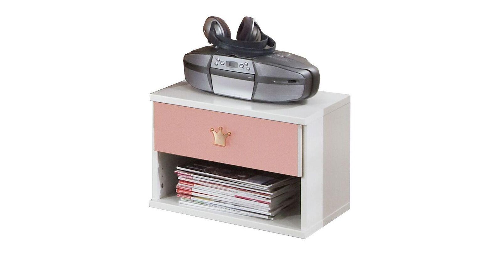Nachttisch Embala mit Ablagefach und Schublade