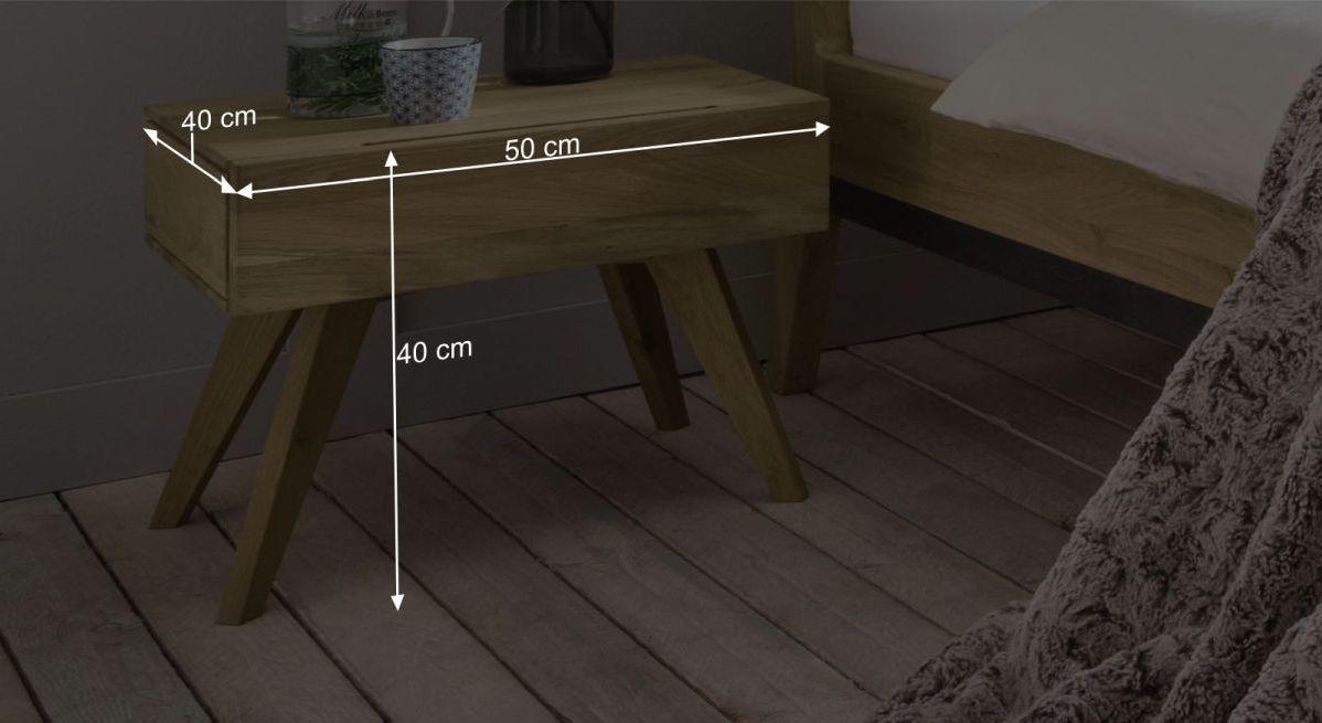 Nachttisch Gordolas Bemaßungsgrafik
