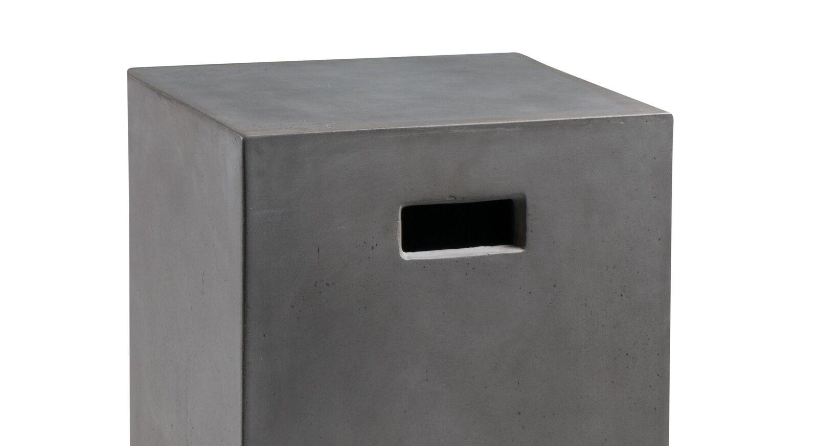 Nachttisch und Hocker Velario mit quadratischer Sitzfläche