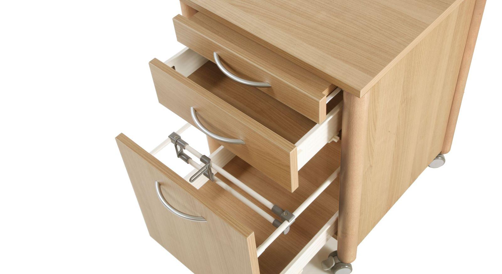 Nachttisch Isar mit unterschiedlich großen Schubladen