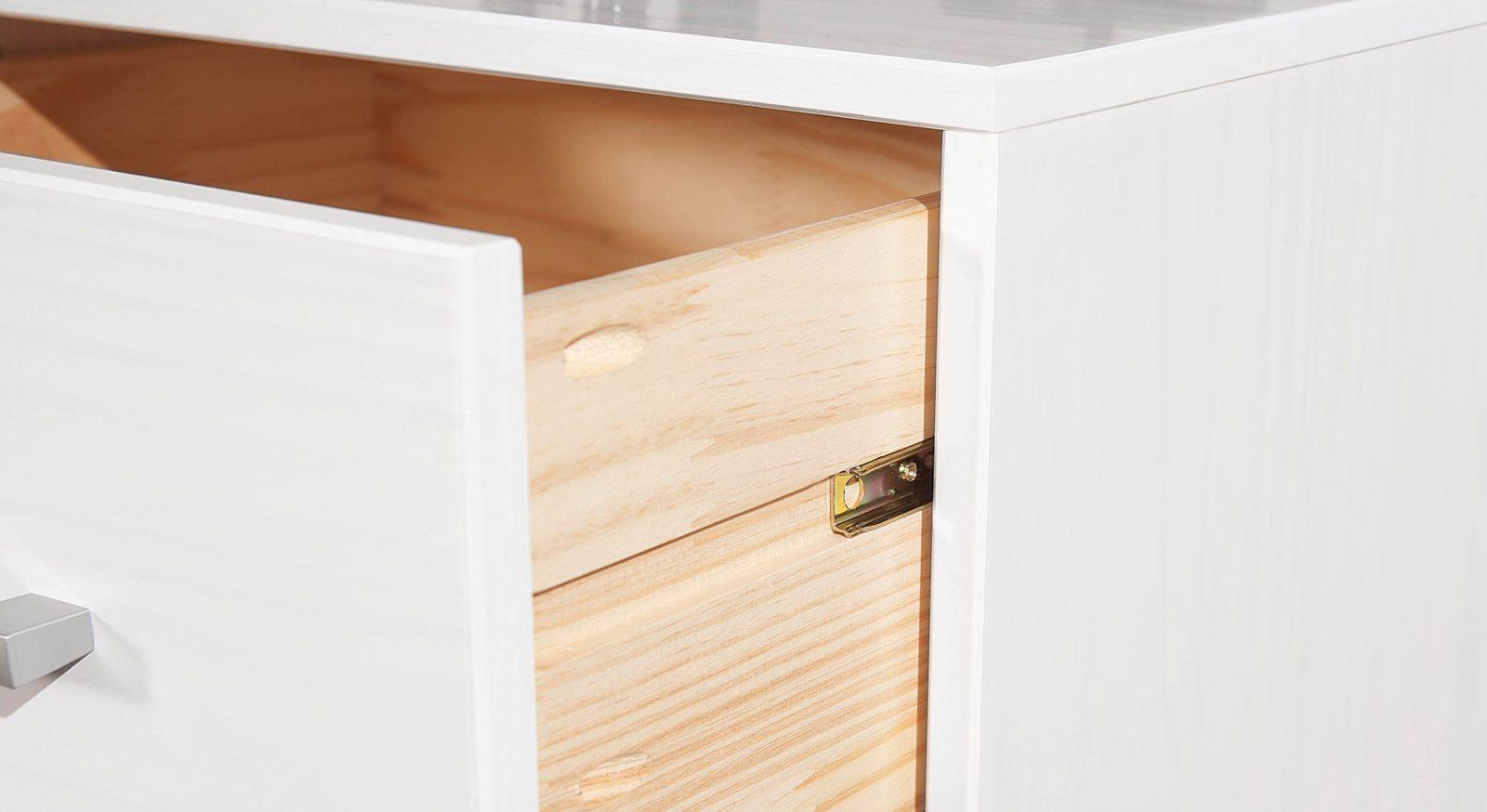 Nachttisch und Kommode Genf mit leichtgängiger Schublade