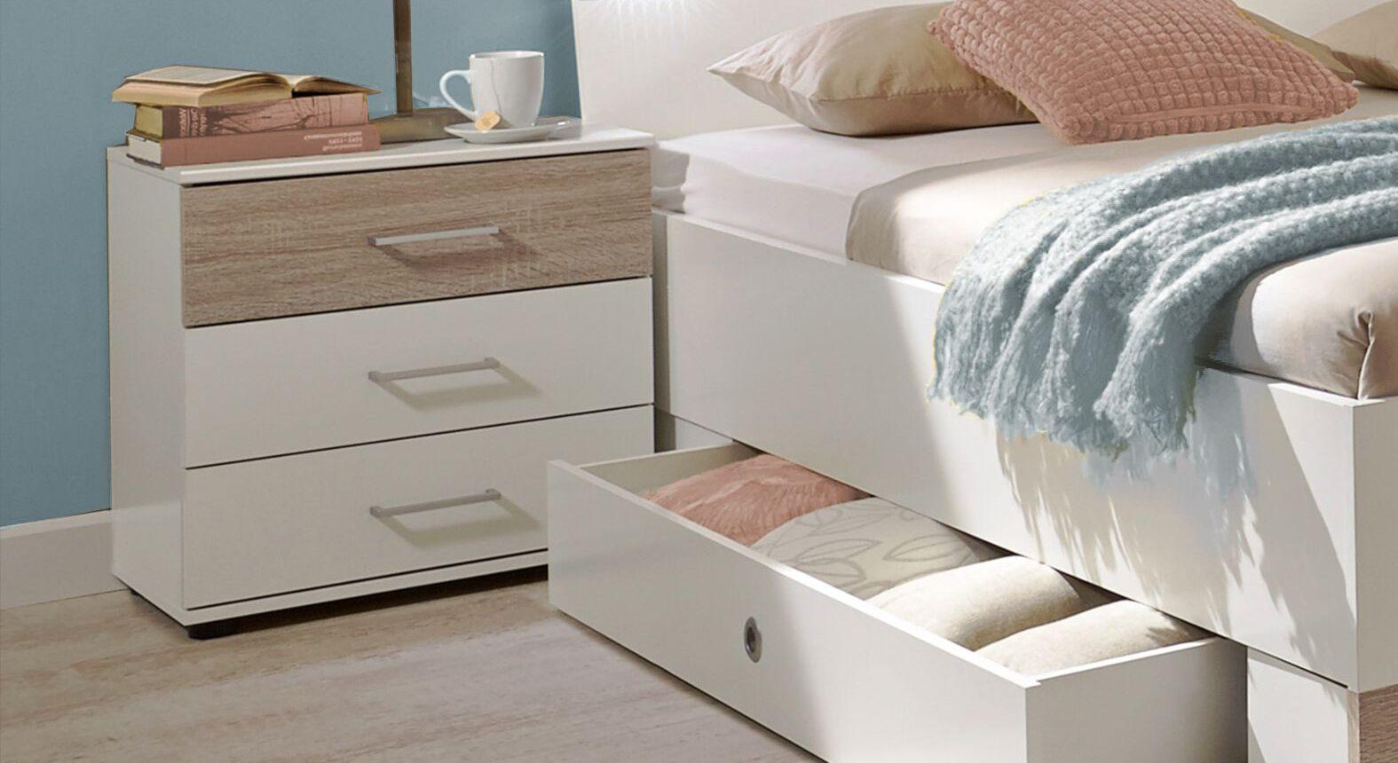 Nachttisch Kormoran mit Schublade im Absetzton