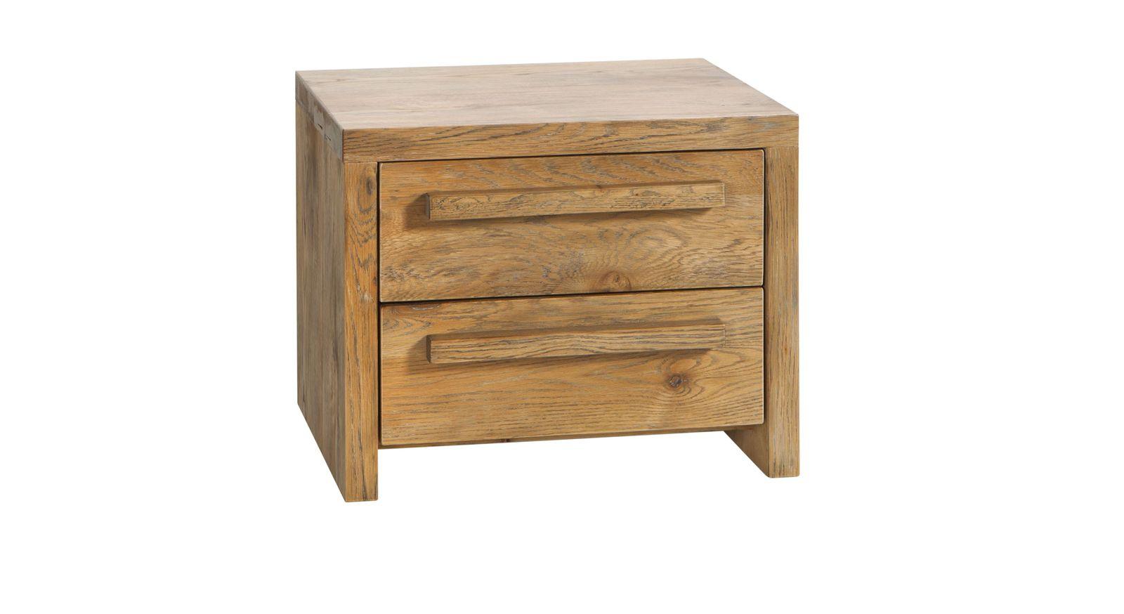 Nachttisch Limeira mit massiven Holzgriffen