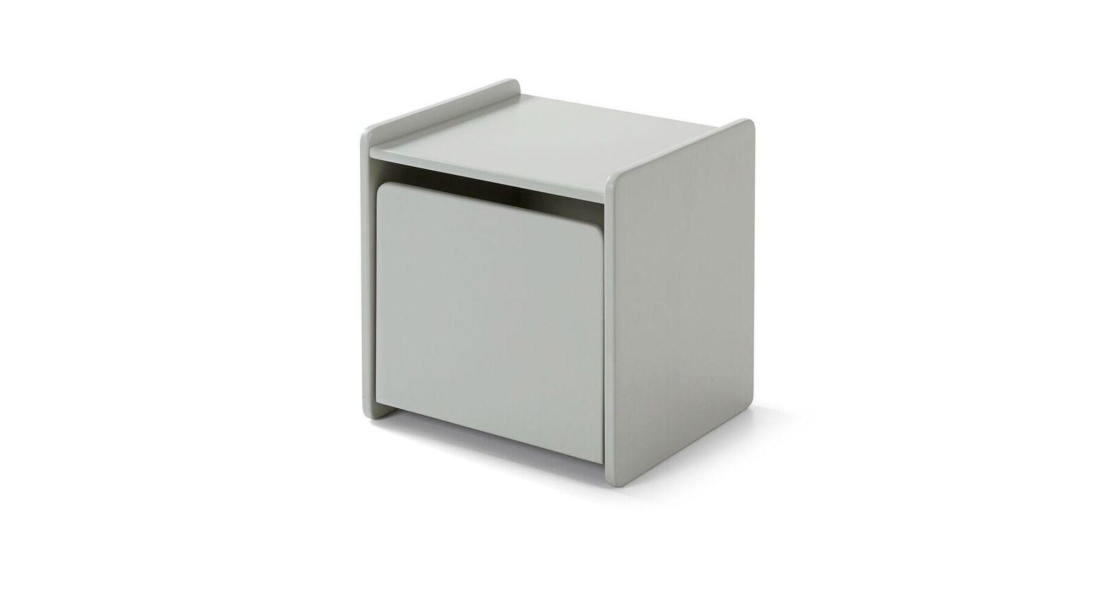 Grau lackierter Nachttisch Maila Color