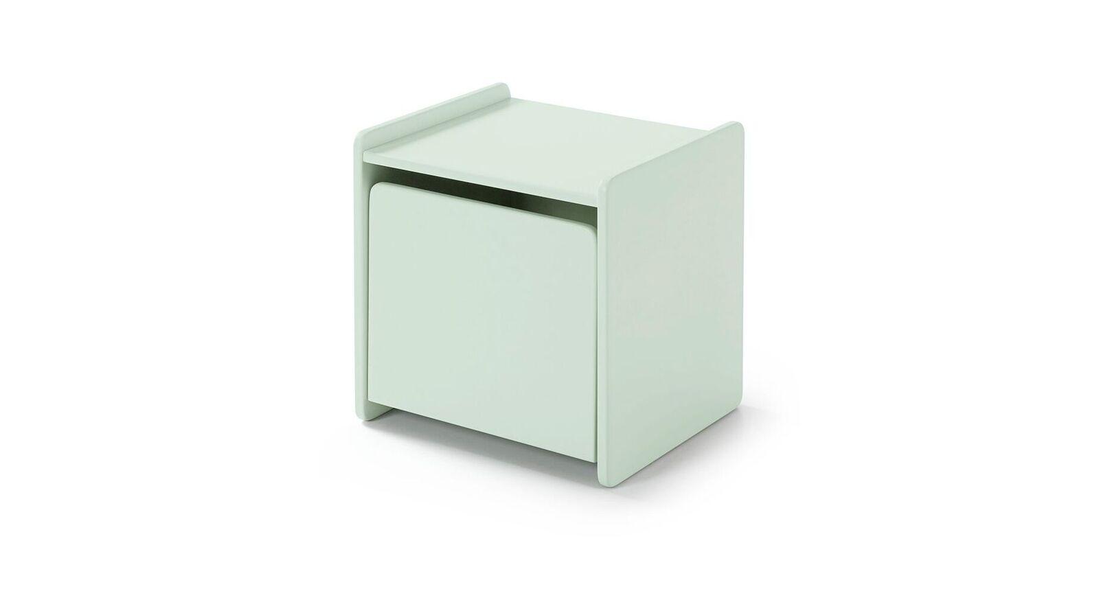 Mintfarben lackierter Nachttisch Maila Color