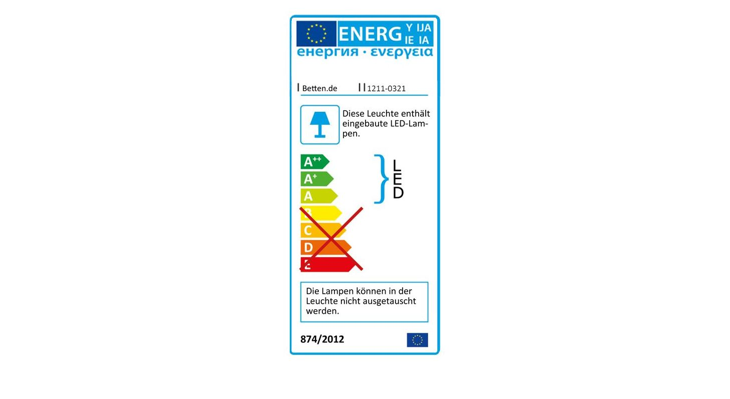 Nachttisch Milltowns Energieverbrauchskennzeichnung