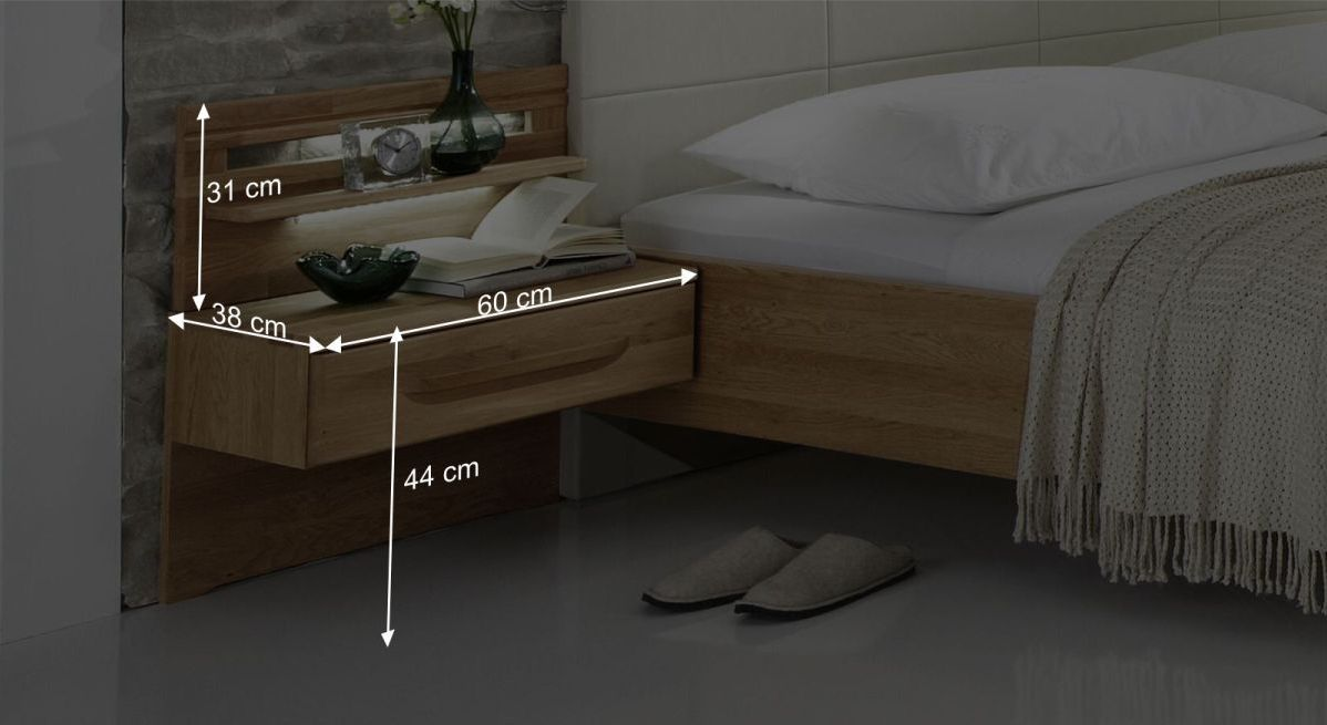 Nachttisch Morleys Bemaßungsgrafik