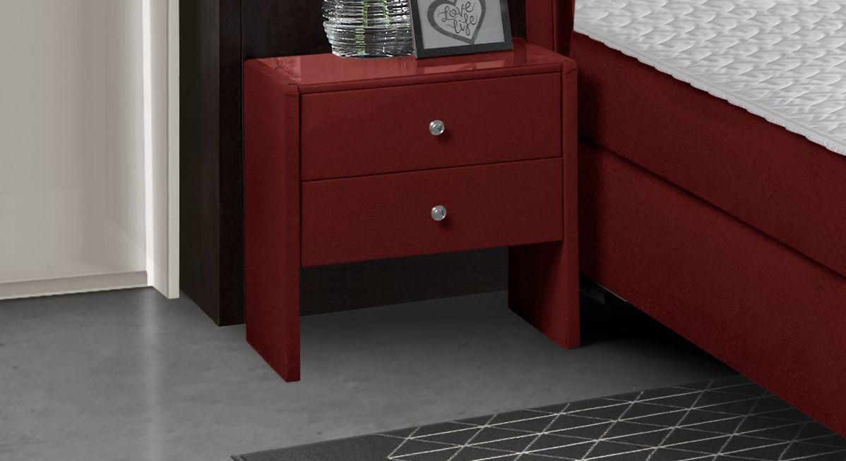 Nachttisch Nerola aus rotem Flanell