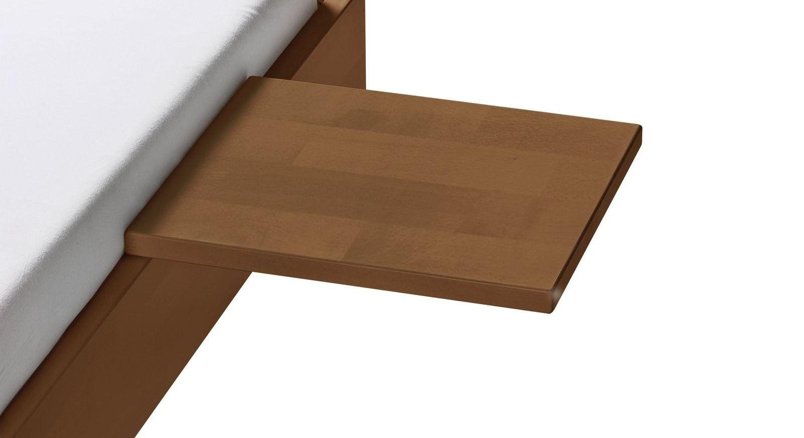 Nachttisch Pamplona aus nussbaumfarben lackiertem Buchenholz