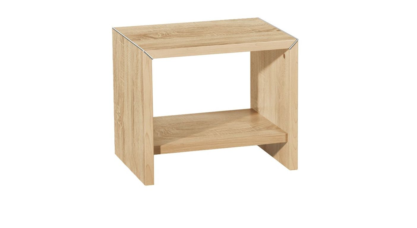 Nachttisch Parla aus sägerauem Eiche-Dekor