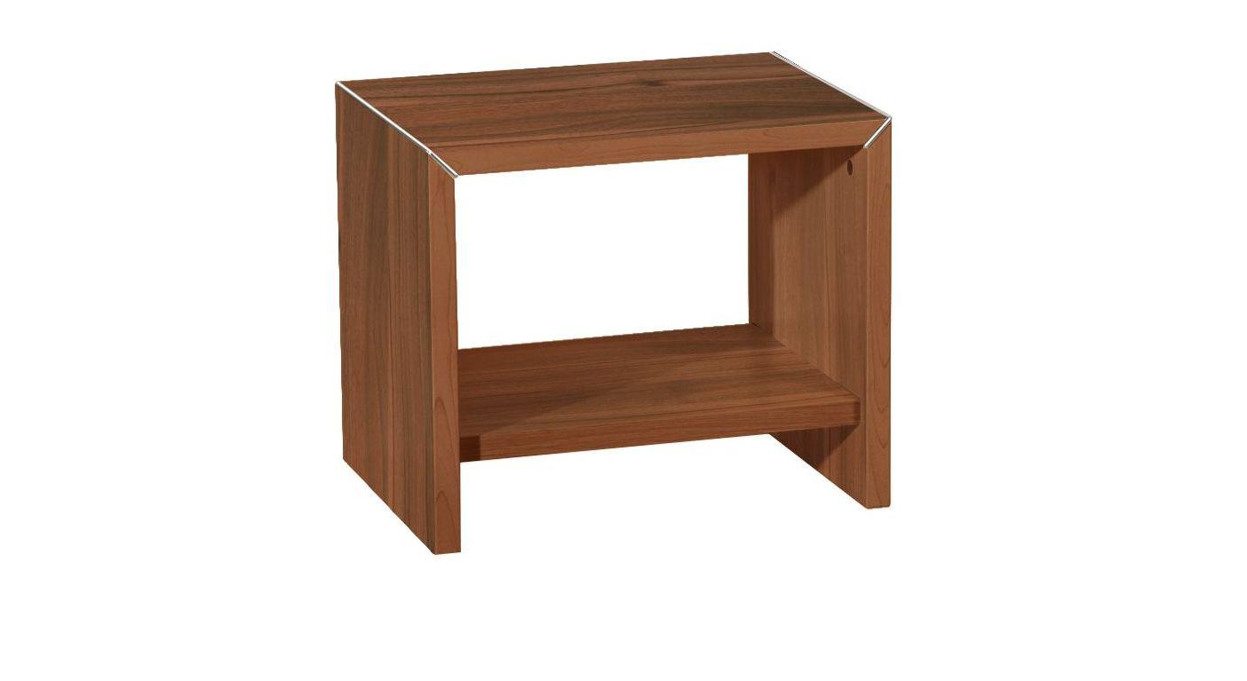 Nachttisch Parla aus nussbaumfarbenen Dekor
