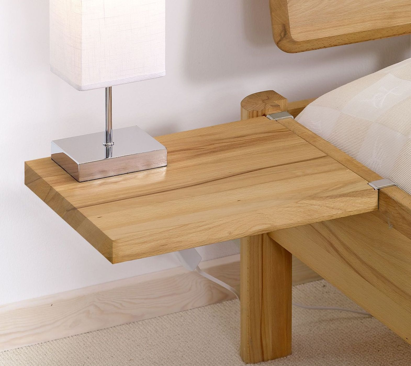 Nachttisch Aus Eiche Zum Einhangen Pavia Betten De