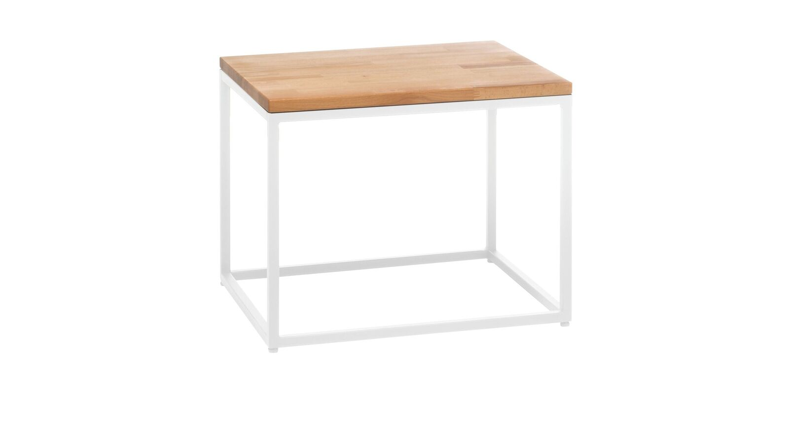 Nachttisch Pilara mit weißem Metallgestell