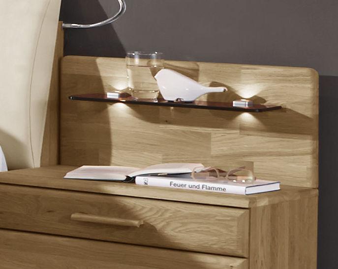 nachttisch mit glaspaneel und wahlweiser beleuchtung praia. Black Bedroom Furniture Sets. Home Design Ideas